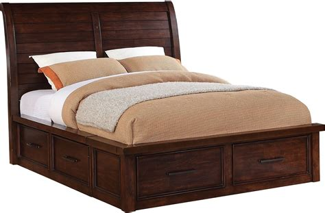 sonoma king storage bed dark brown the brick