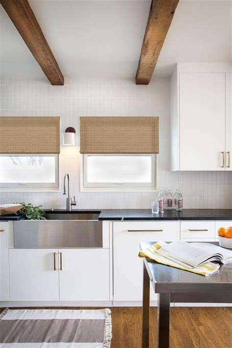 this inviting kitchen features flat front white cabinets 182 best images about for the home on pinterest mid