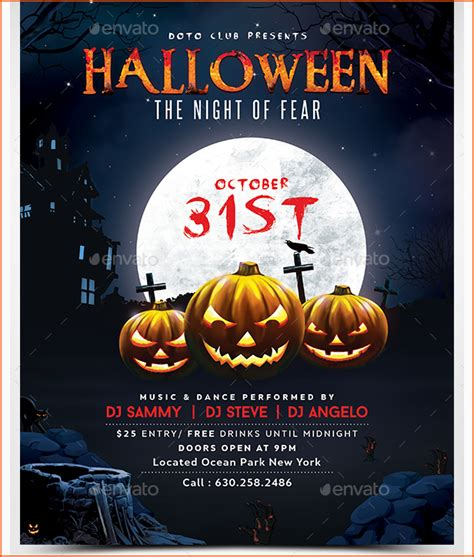 7 halloween party flyer template bookletemplate org
