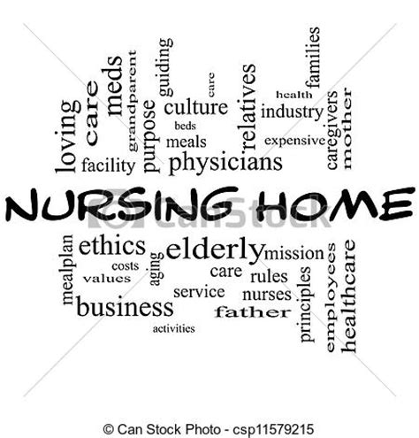 stock photography of nursing home word cloud concept in