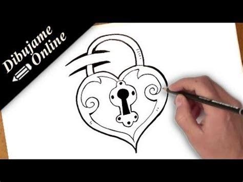 imagenes de corazones encadenados como dibujar un corazon candado youtube