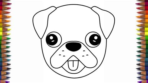 how to draw a pug for how to draw a emoji pug and easy step by step