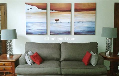 large wall art work  sale contemporary seascape canvas