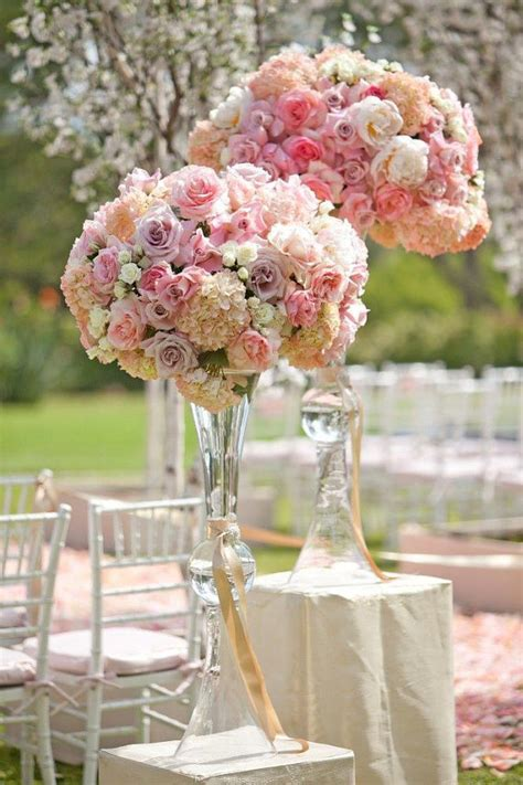 Clear Vase Centerpiece Ideas by Clear Reversible Trumpet Glass Vase Wedding Centerpiece