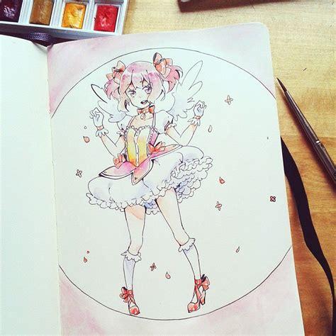 doodle draw anime madoka doodle by yennineii on deviantart