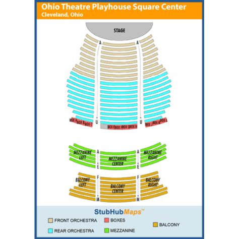 state theater seating chart cleveland state theatre the playhouse square center events and