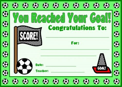 soccer certificates award templates customize