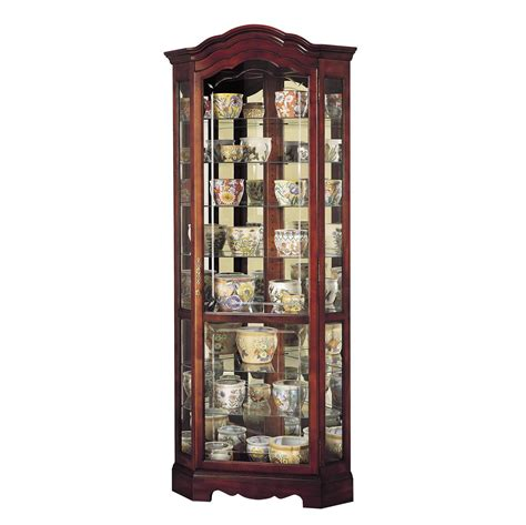 680249 howard miller display cabinets corner curio cabinet