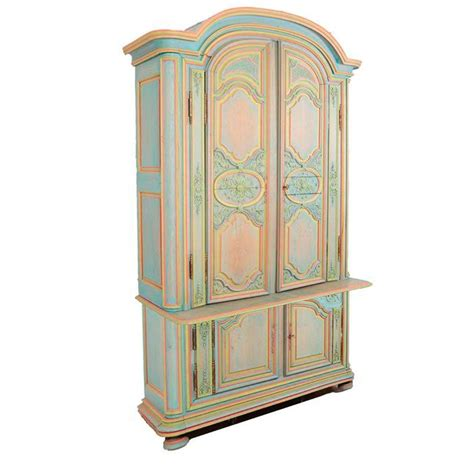 painted armoire for sale french provincial armoire hand carved and hand painted for sale at 1stdibs