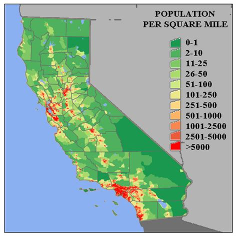 california map by population us map with states and more