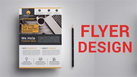 tutorial design flyer how to design corporate flyer in photoshop bangla