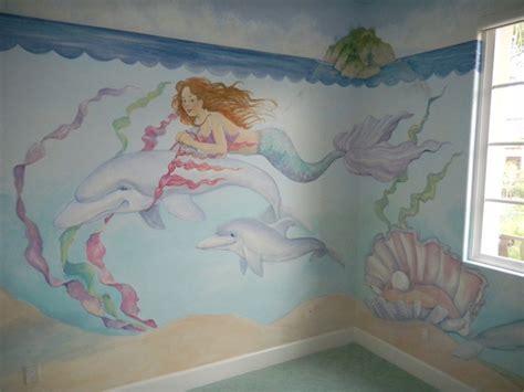 mermaid wallpaper bedroom mermaid and dolphin eclectic kids san diego by