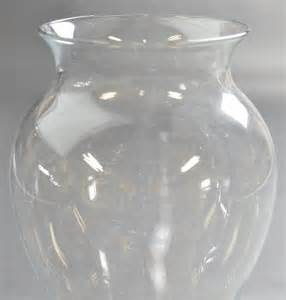 glass vase flower bouquet bulbous shape