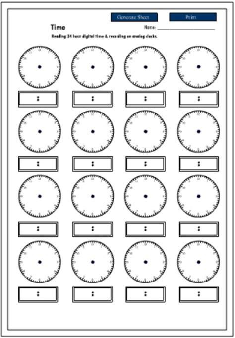 printable 24 hour clock 24 hour time printable studyladder resources pinterest