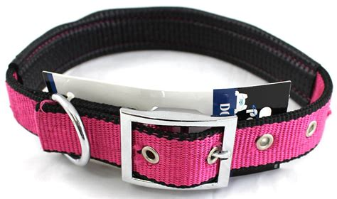comfortable dog collars padded canvas large dog collar with metal grommets