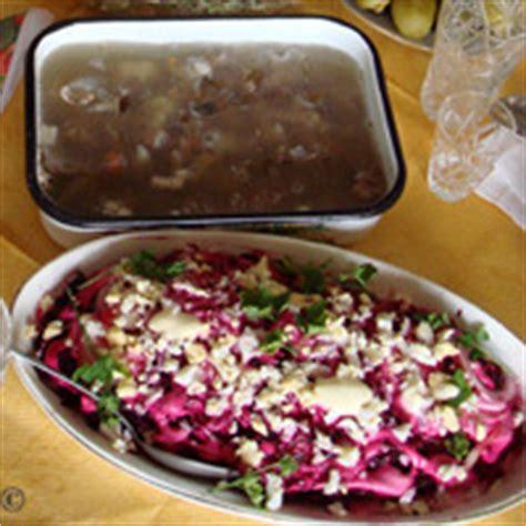 cucina ucraina insalate e gelatine