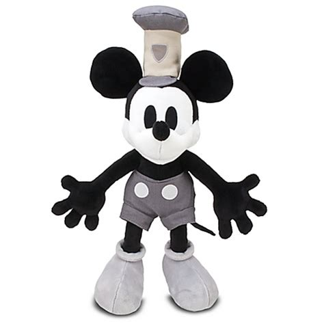steamboat willie plush big disney steamboat willie 1928 mickey mouse plush 18 quot ebay