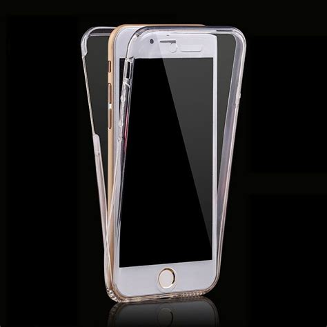 For Iphone 6 6s 360 Protect Soft Silicone Casing 1 360 for iphone 7 7 plus cases protect transparent tpu silicone soft