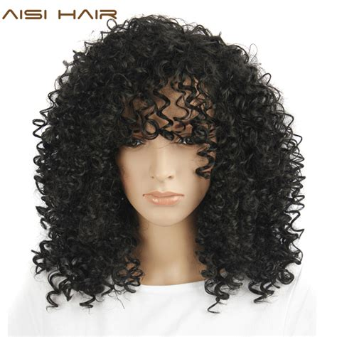 is black pubic hair an afro aisi hair afro kinky curly wig synthetic wigs for black