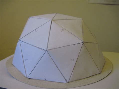 How To Make A Dome Shape Out Of Paper - geodesic paper dome
