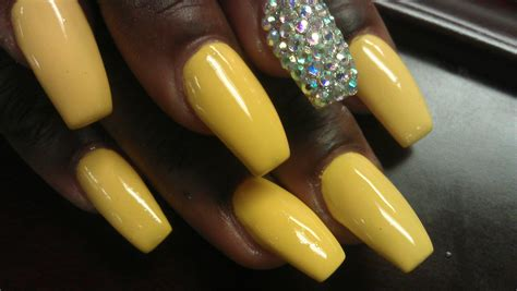 nails designs yellow acrylic and white sexy hot yellow coffin ballerina acrylic nails youtube