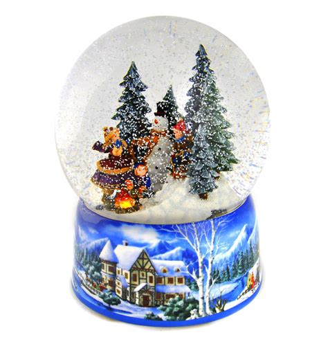 light up snow globe let it snow light up musical christmas snowstorm globe