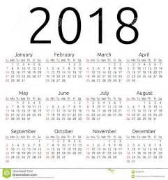 Colombia Calendrier 2018 Calendrier 2018 Dimanche De Vecteur Illustration De