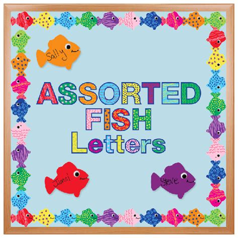 pattern for cutting letters for bulletin boards the cut out bulletin board decoration assorted fish pattern