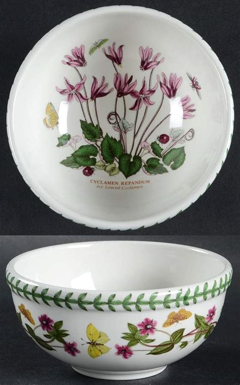 Portmeirion Botanic Garden Fruit Bowl Portmeirion Botanic Garden Cyclamen Pimpernel Salad Dessert Fruit Bowl 5654303