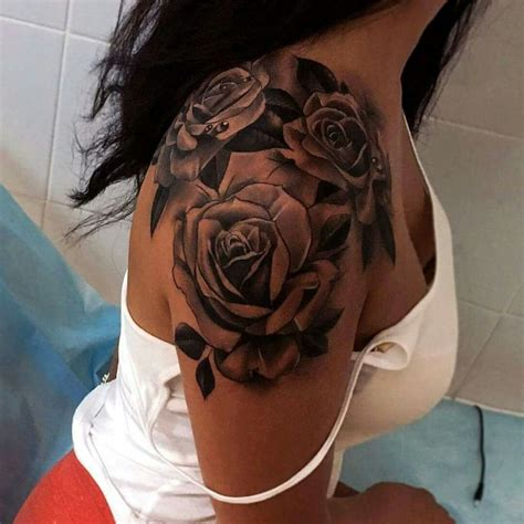 rose shoulder tattoo designs ideas and meaning tattoos