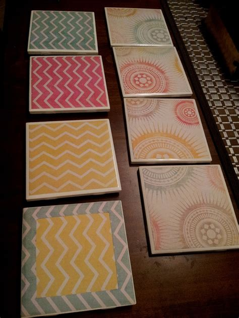 Scrap Paper Craft Ideas - mod podge scrapbook paper coasters craft ideas