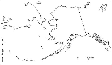 blank us map including alaska and hawaii outline maps of alaska with borders