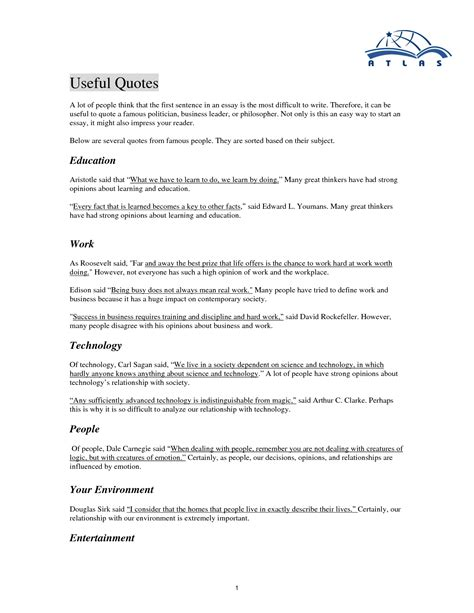 College Essay Quotes Quotesgram Quotes For Essays Quotesgram