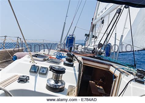 sailing boat heeling sailing boat ship or yacht heeling over on sea in
