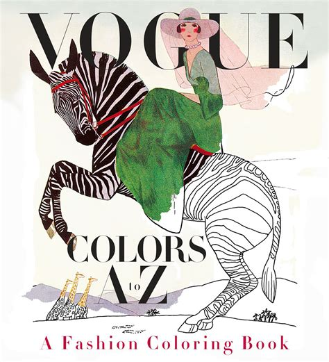 coloring book magazine introducing vogue colors a to z a fashion coloring book