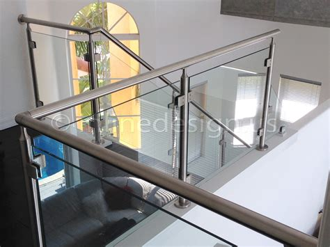 banister glass contemporary metal staircase wooden floating steps glass