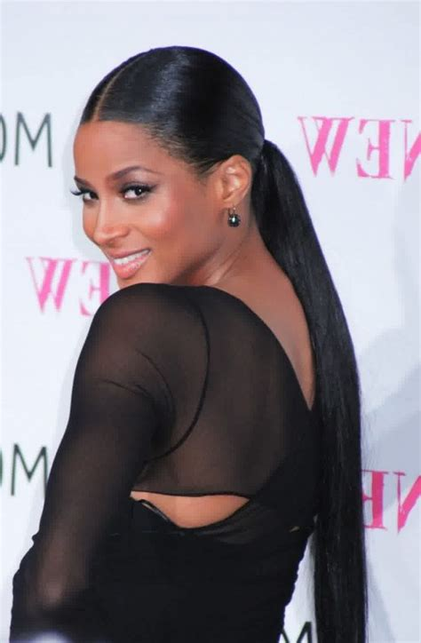 the middle part with weave in a ponytail best long weave ponytail hair styles for girls