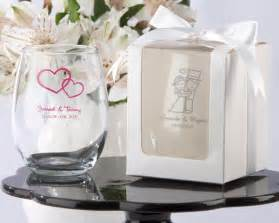 stemless wine glass wedding favors
