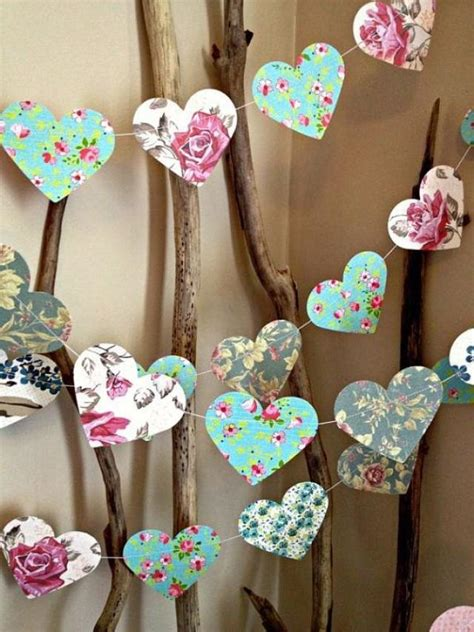 How To Make Paper Decorations For Baby Shower - 10 ft paper garland vintage shabby chic roses