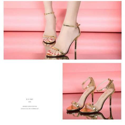 Sepatu High Heels Glitter 9cm jual shh169 gold sepatu heels cantik wanita 9cm