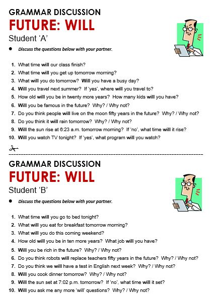 question for future tense will future will all things grammar