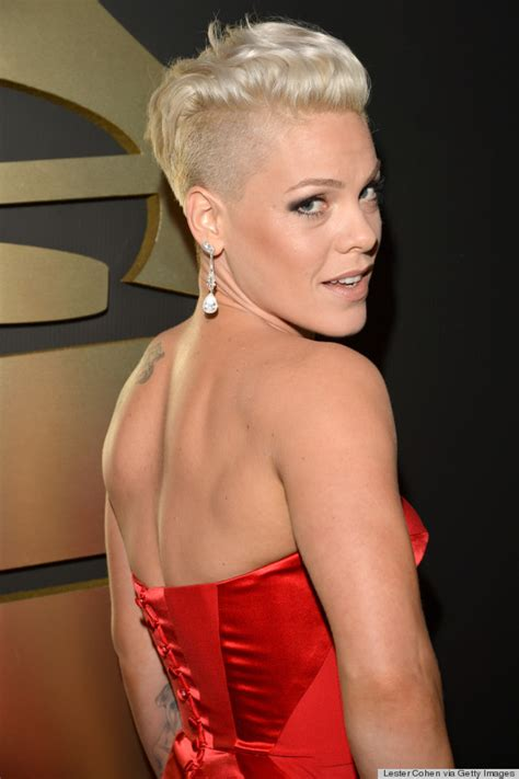pinks new haircut 2014 pink s grammy dress 2014 is actually a really pretty red