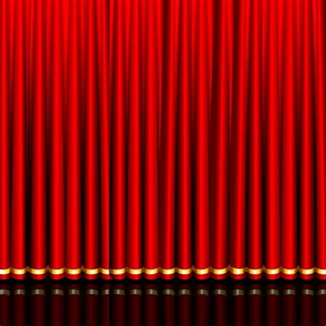 curtain graphic gorgeous curtain of red 03 vector free vector in