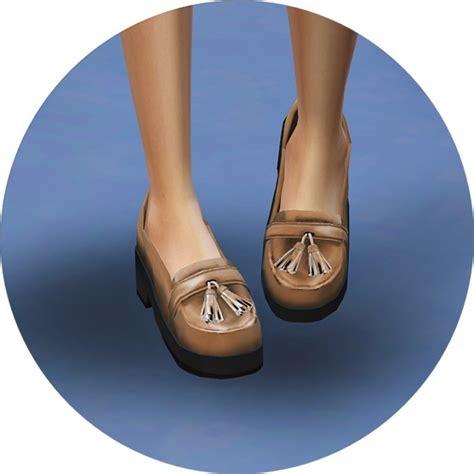 sims 4 platform heels tassel platform heels at marigold 187 sims 4 updates