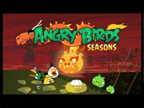 angry birds seasons new year theme angry birds seasons year of the theme tune