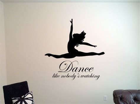 Personalised Bedroom Wall Stickers dance like nobody s watching wall decal wall decal