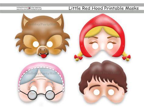 printable masks for little red riding hood little red riding hood archives lifes little celebration