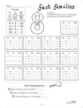 Fact Families - Multiplication & Division Facts - Common