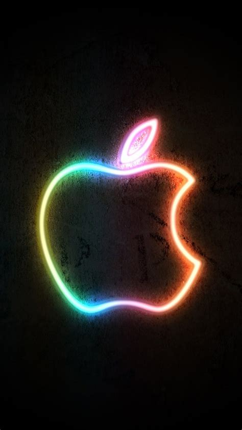 neon light apple iphone  gs wallpaper