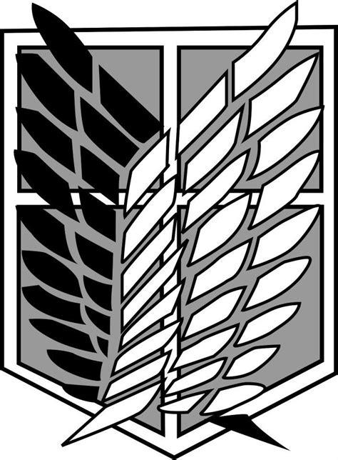 Attack On Titan Shingeki No Kyojin Canvas Black Jaket Anime shingeki no kyojin scouting legion emblem by allenwalkeriskawaii on deviantart attack on